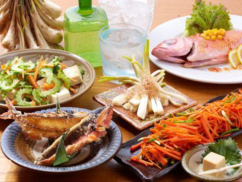 厳選された新鮮沖縄食材を使用した料理